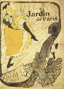 Jane Avril to the Jardin the Paris Henri de toulouse-lautrec